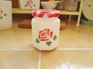マニーローズガラス ミルクジャム瓶 (ローズ)