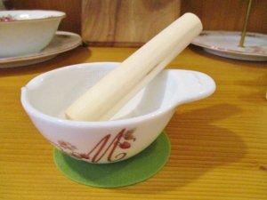 マニーレール・ドゥ・ロココ 陶器ミニすり鉢&ミニすり棒セット