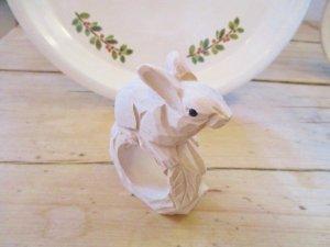 GC Wood craft animal ナプキンリング ウサギ