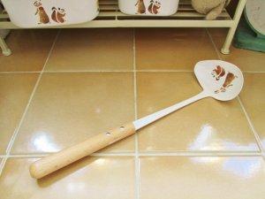 レコルト ホーロー 横口レードル(持ち手木製)