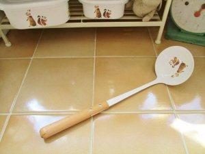 レコルト ホーロー レードル(持ち手木製)