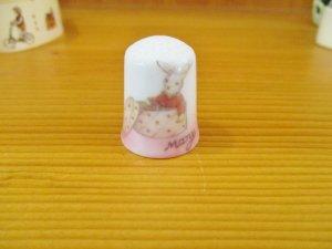 プティ・フィーユ・ジュー 陶器キルティングシンブル(指ぬき)