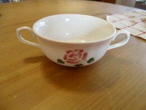 マニーローズ陶器 マリアンヌ 両手付きカップ