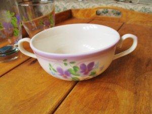 ブーケ・ドゥ・ヴィオレット 陶器 マリアンヌ両手付きカップ