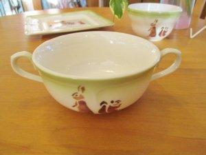 レコルト 陶器 マリアンヌ両手付きカップ