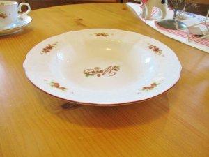 マニー レール・ドゥ・ロココ 陶器  スーププレート(Red)