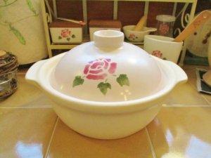 マニーローズ 陶器 IH対応耐熱土鍋(2〜3人用)