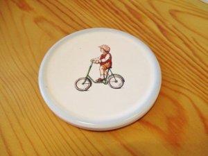 プチメゾン 陶器 タイルコースター(男の子)
