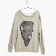 <img class='new_mark_img1' src='https://img.shop-pro.jp/img/new/icons41.gif' style='border:none;display:inline;margin:0px;padding:0px;width:auto;' />Buffalo Head Organic Pullover