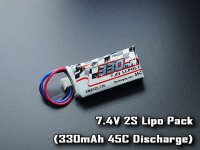 AMZ020-330・RC Atomic 7.4V 2S Lipo Pack (330mAh 45C Discharge)