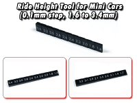 AW-013-A・RC Atomic Ride Height Tool for Mini Cars (0.1mm step, 1.6 to 3.4mm)