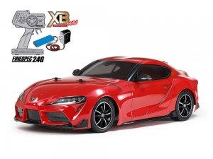 57916・タミヤ製XBシリーズ(完成モデル)1/10RC XB トヨタ GR スープラ (TT-02シャーシ) レッド