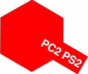 PS-2・タミヤ製 PS-2 レッド ポリカーボネートスプレー