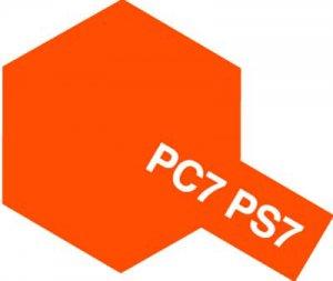 PS-7・タミヤ製 PS-7 オレンジ ポリカーボネートスプレー