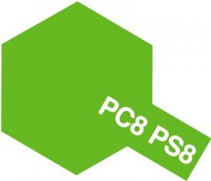 PS-8・タミヤ製 PS-8 ライトグリーン ポリカーボネートスプレー