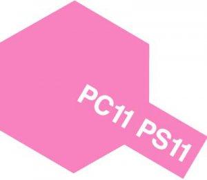 PS-11・タミヤ製 PS-11 ピンクー ポリカーボネートスプレー