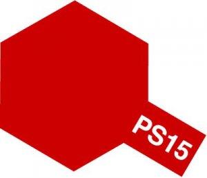 PS-15・タミヤ製 PS-15 メタリックレッド ポリカーボネートスプレー