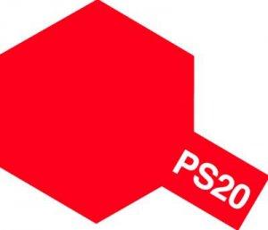 PS-20・タミヤ製 PS-20 蛍光レッド ポリカーボネートスプレー