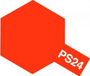 PS-24・タミヤ製 PS-24 蛍光オレンジ ポリカーボネートスプレー