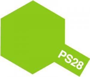 PS-28・タミヤ製 PS-28 蛍光グリーン ポリカーボネートスプレー