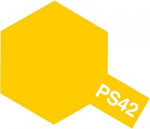 PS-42・タミヤ製 PS-42 フロストイエロー ポリカーボネートスプレー