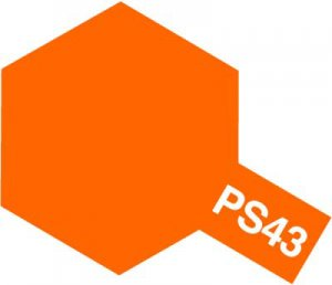 PS-43・タミヤ製 PS-43 フロストオレンジ ポリカーボネートスプレー