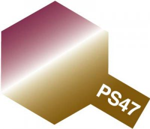 PS-47・タミヤ製 PS-47 偏光ピンク/ゴールド ポリカーボネートスプレー
