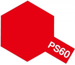 PS-60・タミヤ製 PS-60 ブライトマイカレッド ポリカーボネートスプレー