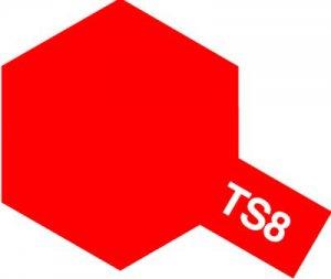 TS-8・タミヤ製 TS-8 イタリアンレッド タミヤスプレー