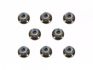 OP-1642・タミヤ製 OP.1642 4mmフランジロックナット (ブラック) 8個