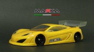 MRK-8025・MARKA RACING製 MINI-Z RK-12 RACING LEXAN BODY KIT (98MM W/B) - LIGHT WEIGHT