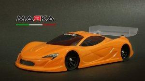 MRK-8026・MARKA RACING製 MINI-Z RK-P-ONE RACING LEXAN BODY KIT (98MM W/B) - LIGHT WEIGHT