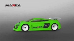 MRK-8021・MARKA RACING製 MINI-Z RK408 RACING LEXAN BODY KIT (98MM W/B) - LIGHT WEIGHT