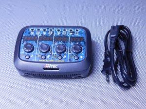 USED-0597・ハイテック製 マイクロバッテリーチャージャー 1セルLi-po専用