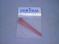 CR331・セントラルRC製 ボディークリップ メタリックレッド・1/10用ロング
