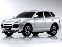 MVG9S・京商/MINI-Z PORSCHE Cayenne Turbo シルバー(グロスコートボディー)MINI-Zオーバーランド用