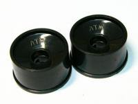 AR-116・RC Atomic Rear Dish Wheel (-1 offset) - Black
