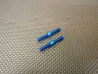 新品アルミターンバックル ブルー 3×23 (2本入り)