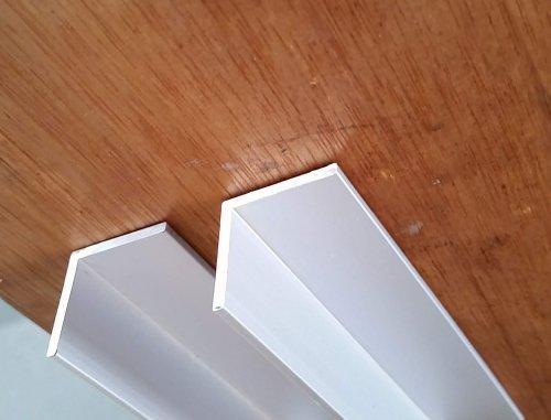 鴨居(かもい)用レール 2連 アルミアングル(カラー:シルバー、長さ:2m)