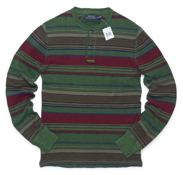 Polo Ralph Lauren ポロラルフローレン ヘンリーネック サーマルTシャツ 長袖Tシャツ [新品] [035]