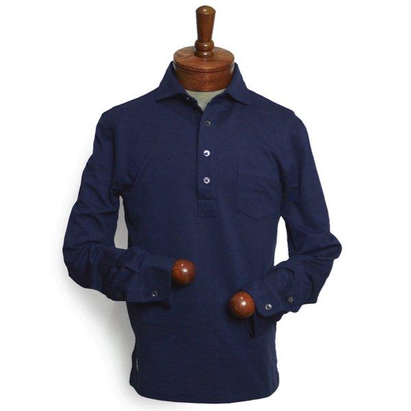 Polo Ralph Lauren ポロラルフローレン 高級ピーマコットン 鹿の子 長袖ポロシャツ プルオーバーシャツ【$125】 [新品] [038]