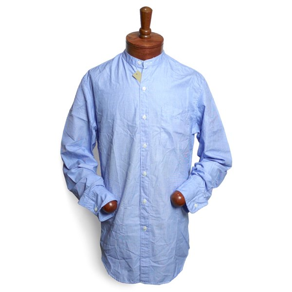 J.Crew ジェイクルー バンドカラーシャツ スタンドカラーシャツ ドレスシャツ【$75】 [新品] [053]