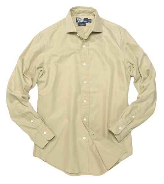 Polo Ralph Lauren ポロラルフローレン ワイドカラー ドレスシャツ【$165】[新品] [028]