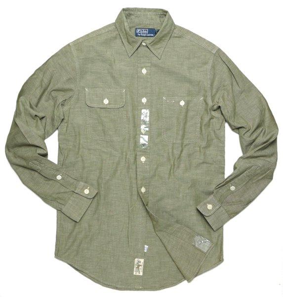 Polo Ralph Lauren ポロラルフローレン シャンブレーシャツ ワークシャツ【$145】[新品] [058]