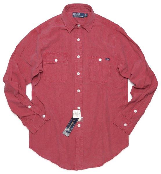 Polo Ralph Lauren ポロラルフローレン シルク×リネン ワークシャツ【$125】 [新品] [101]