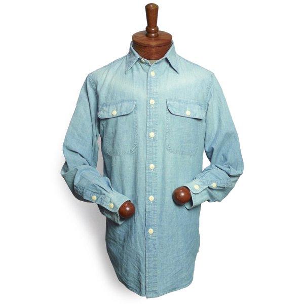 Polo Ralph Lauren ポロラルフローレン ステンシルプリント シャンブレーシャツ【$165】 [新品] [112]