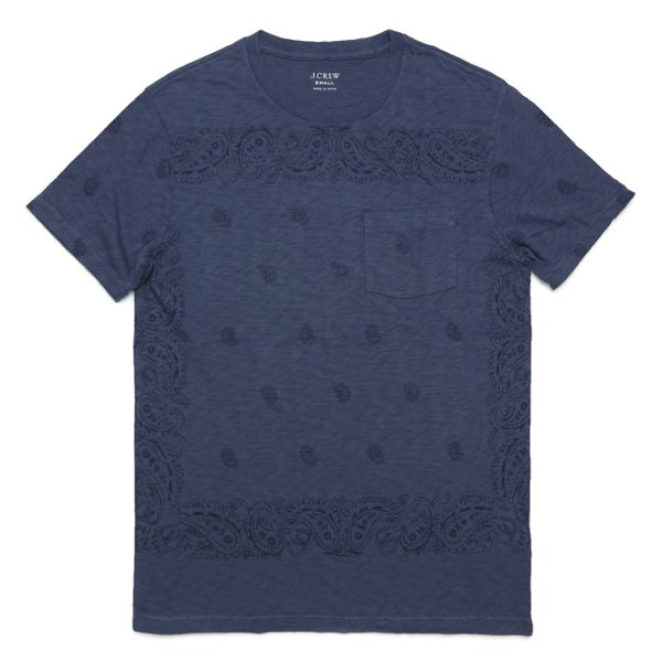 J.Crew ジェイクルー ペイズリープリント ポケットTシャツ [新品] [036]