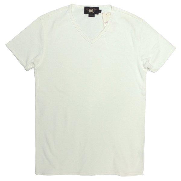 RRL ダブルアールエル 無地T ビンテージ鹿の子 VネックTシャツ【$125】 [新品] [016]