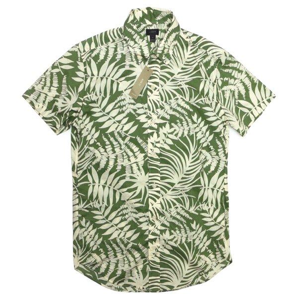 J.Crew ジェイクルー ボタンダウンシャツ リゾートシャツ 半袖シャツ トロピカル柄【$75】 [新品] [054]