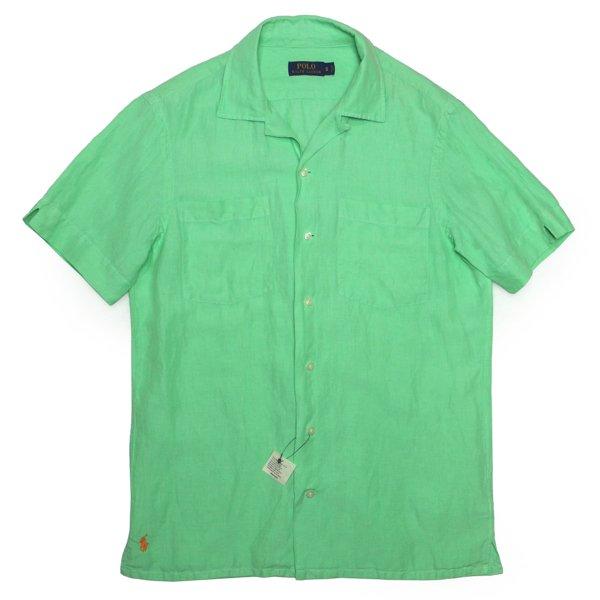Polo Ralph Lauren ポロラルフローレン リネン×シルク 開襟シャツ オープンカラーシャツ 半袖シャツ【$98】 [新品] [124]